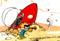 Calvin as Spaceman Biff